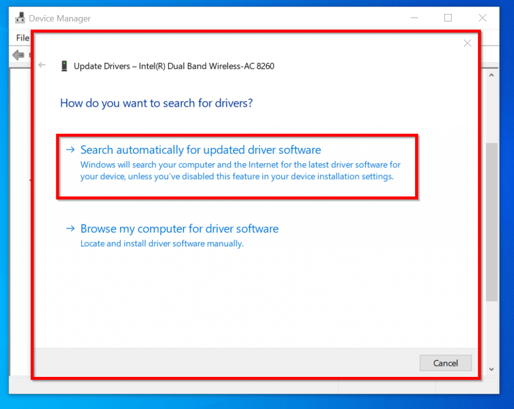 Wifi doesn t have a valid IP configuration - update wifi driver