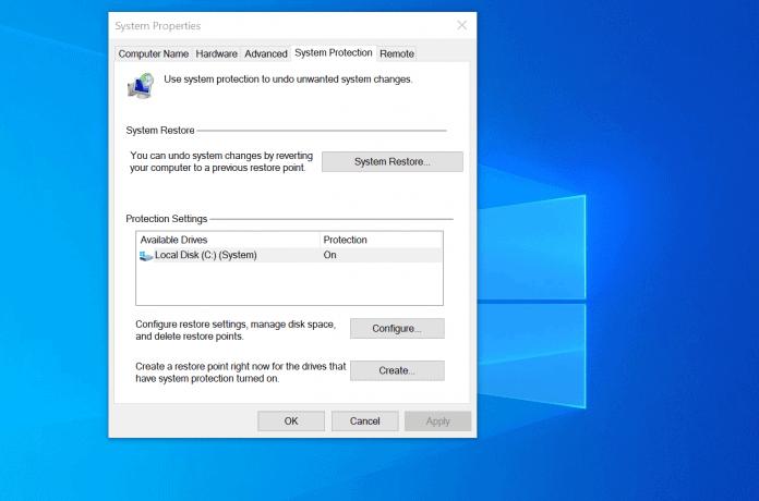 system restore windows 10