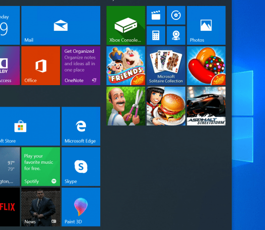 windows 10 search featured