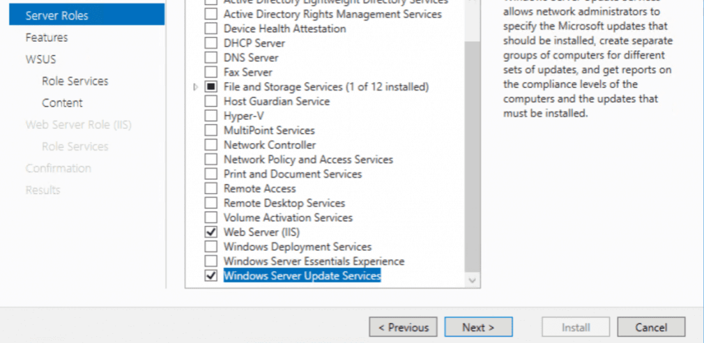 WSUS Windows Server 2016: Installation and Configuration