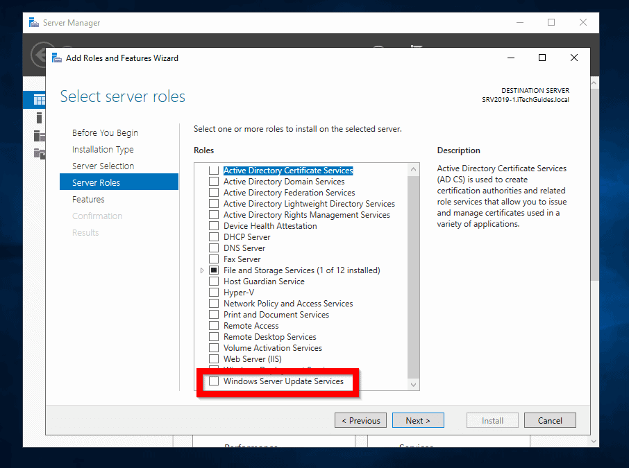 How to Install and Configure WSUS in Windows Server 2019