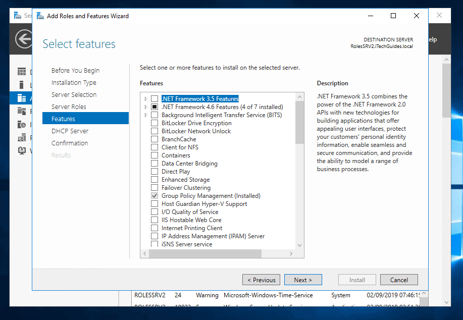 how to setup dhcp server 2016