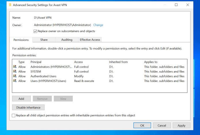 How to Take Ownership of Folder in Windows 10