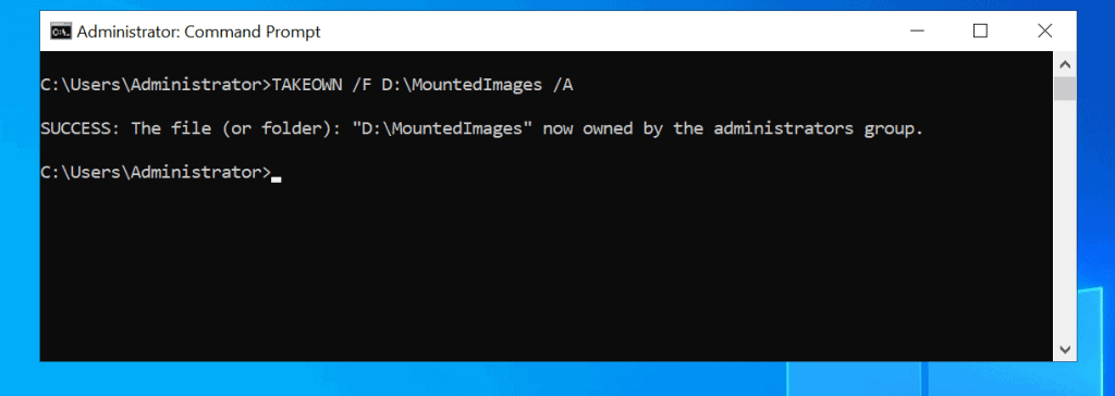 Take Ownership of Folder in Windows 10 with Command Prompt