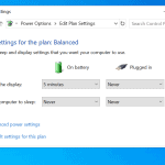 How to Change Windows 10 Power Settings
