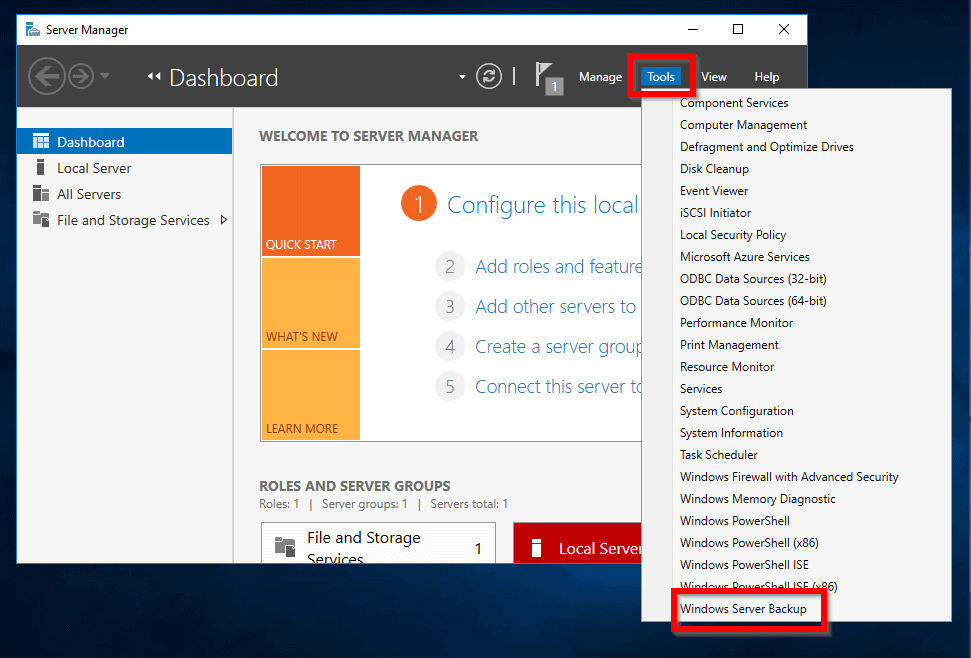 Create System Image Server 2016 in 2 Easy Steps