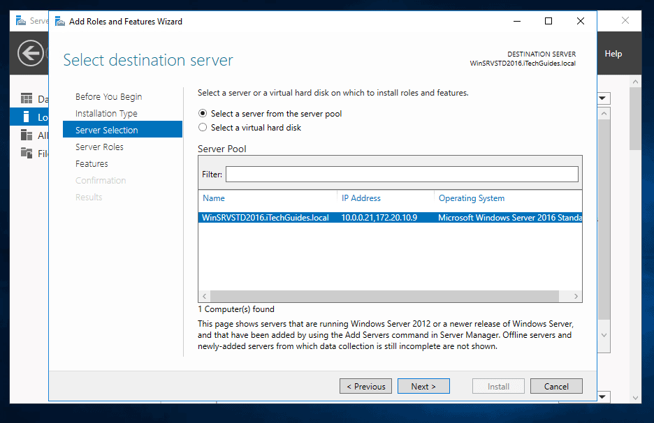 how to install and configure dns on windows server 2016