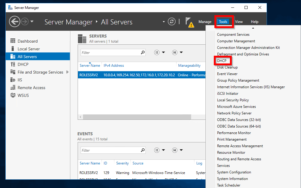 Setup DHCP in Windows Server 2016: Configure Scope