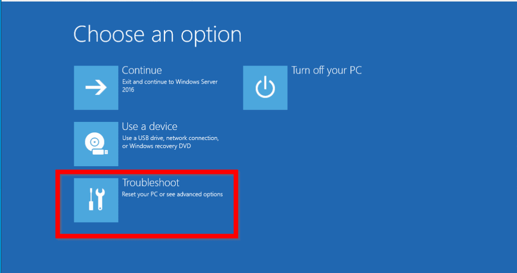 windows server 2016 automatic repair loop