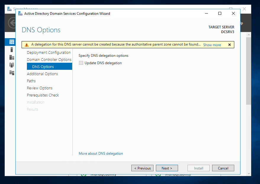 install active directory server 2016