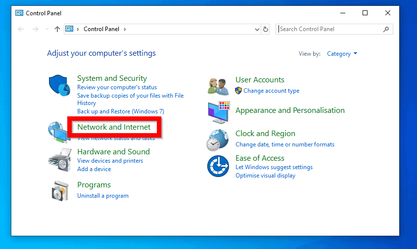Disable IPv6 in Windows 10 from Network Settings