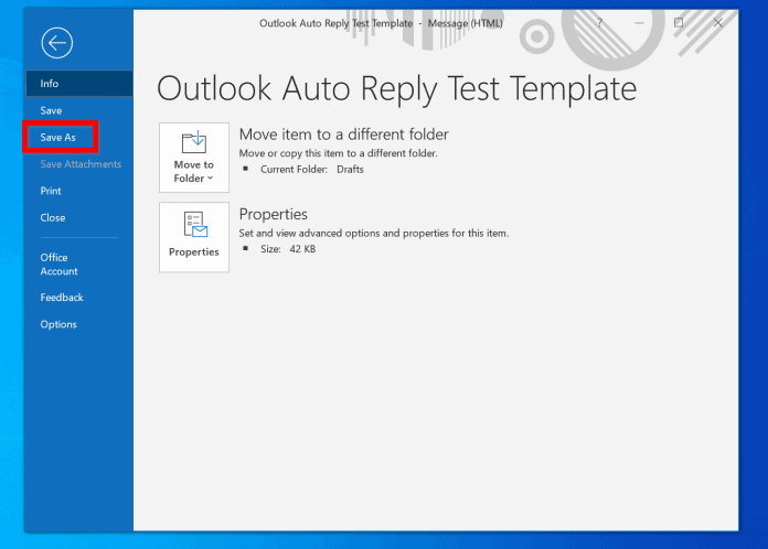 How to Setup Outlook Automatic Message Reply (Not Out Of Office)