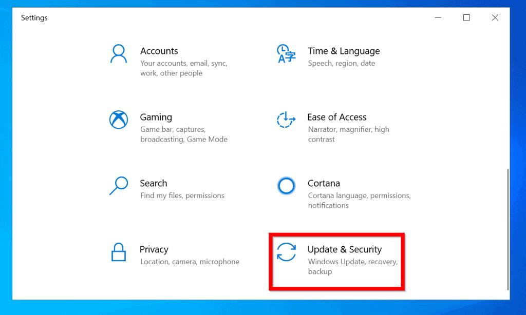 Check Windows 10 Update History from Windows Update Settings