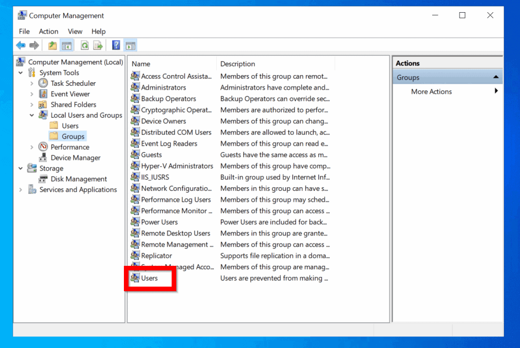 """Available Options to Fix Black Screen in Windows 10 After Login - Add """"NT AUTHORITY\INTERACTIVE"""" Account to the Local """"Users"""" Group"""