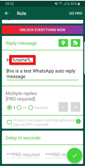 whatsapp auto reply