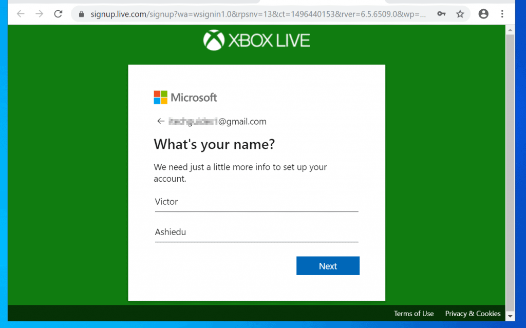 How to Create New Xbox Live Account