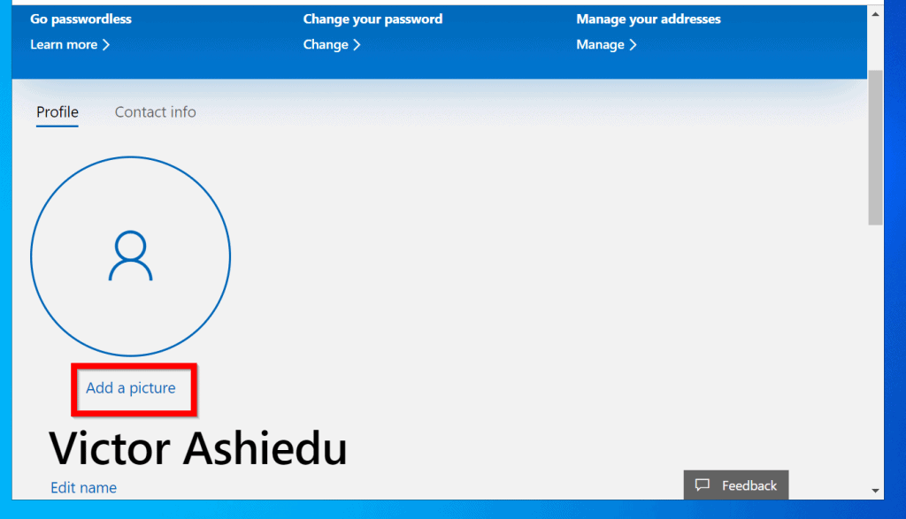 How to Change Account Picture in Windows 10 for Microsoft Account