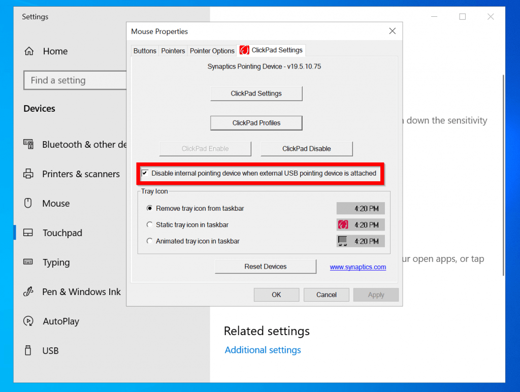 How to Disable Touchpad in Windows 10 for a HP Laptop