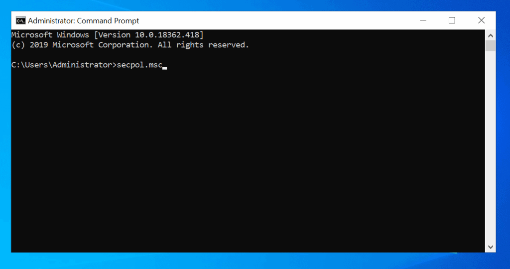 local security policy windows 10