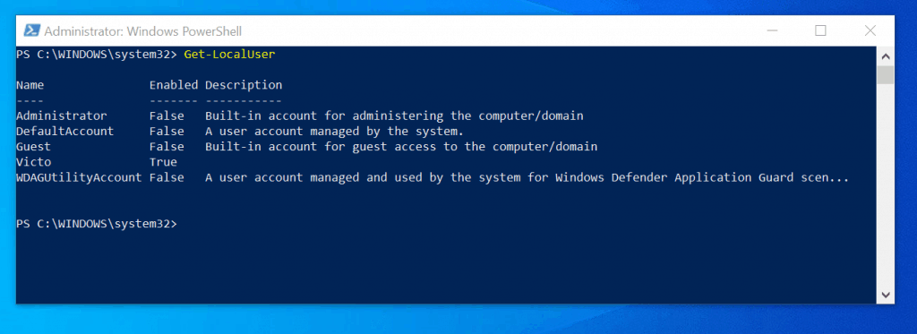 how to change administrator name on windows 10