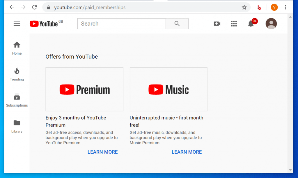How to Subscribe to YouTube Red from YouTube.com