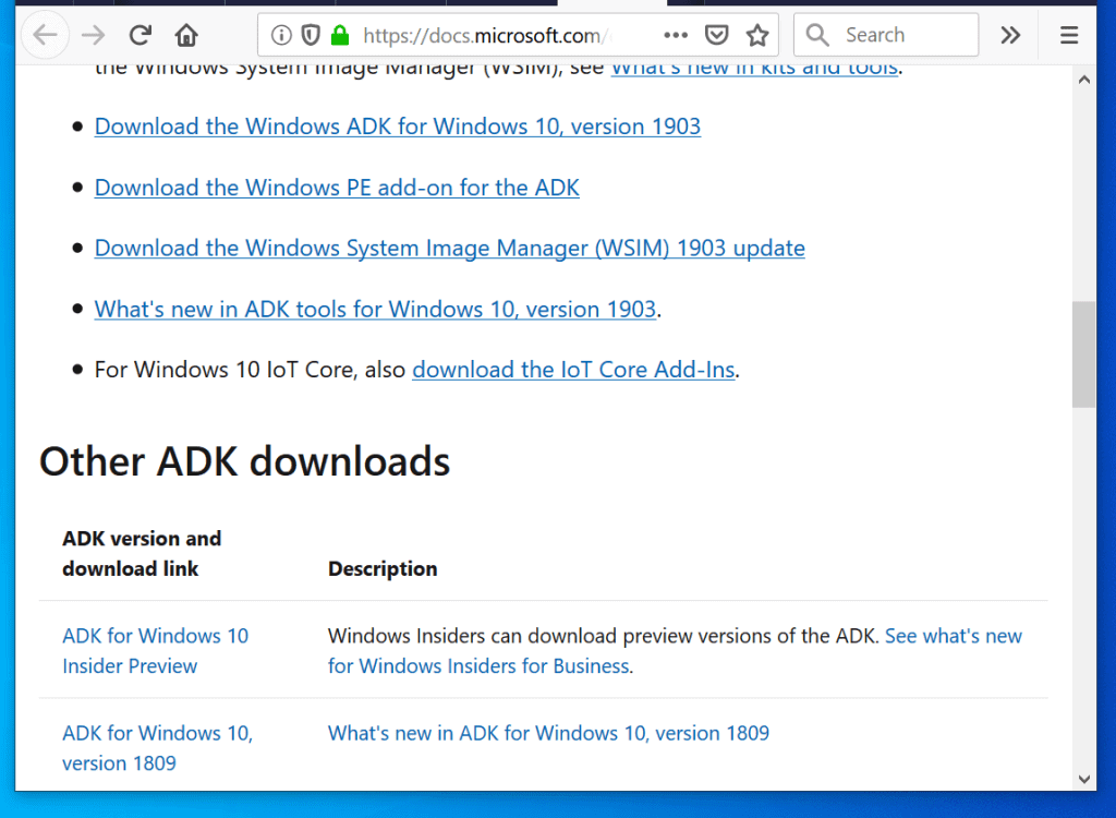 Steps to Download Windows ADK for Windows 10