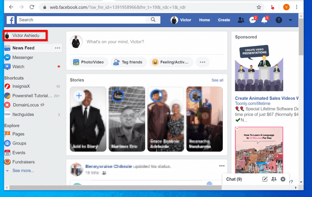How to View As on Facebook from a PC (Facebook.com)