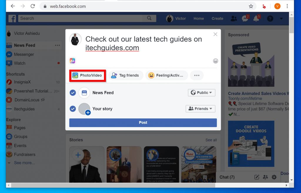How to Post on Facebook from a PC