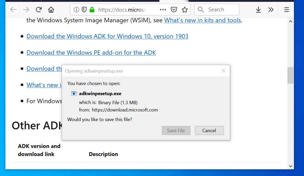 windows adk for windows 10