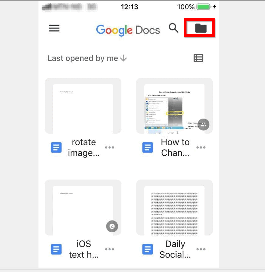 How to Change to Landscape in Google Docs (from the iPhone App)