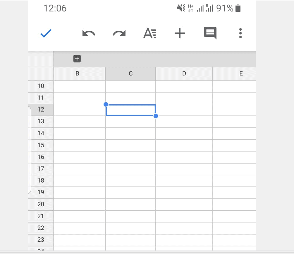 How to Merge Cells in Google Sheets from the Android App