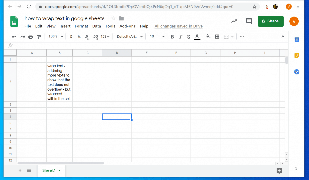 How to Wrap Text in Google Sheets from a PC or Mac