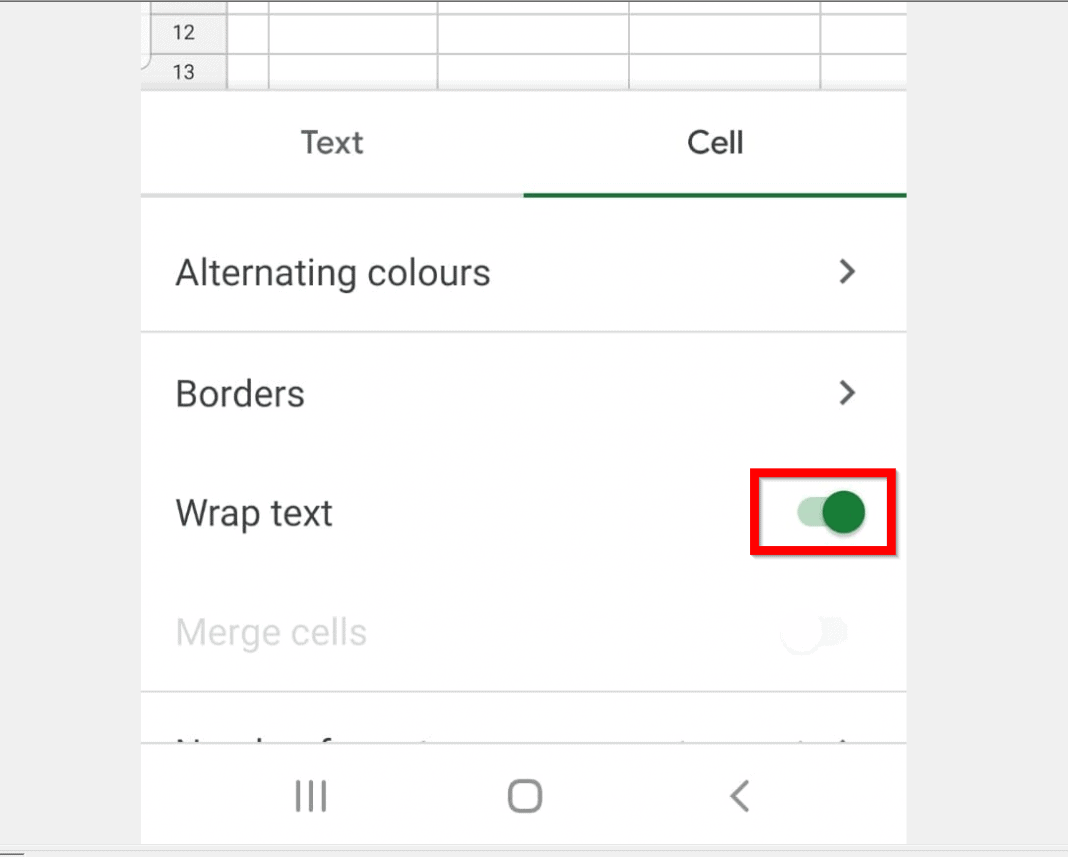 How to Wrap Text in Google Sheets from the Android App