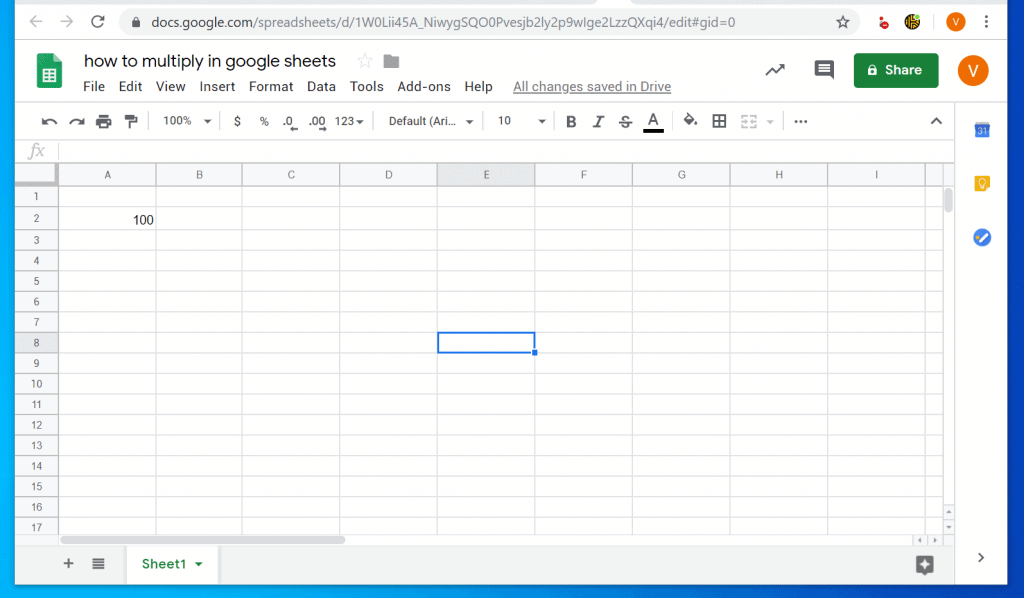 How to Multiply in Google Sheets from a PC