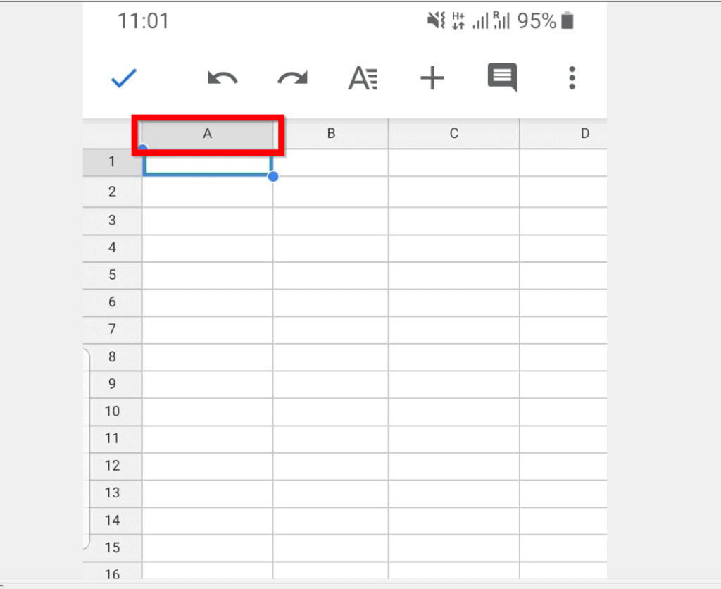 How to Freeze Cells in Google Sheets from Android