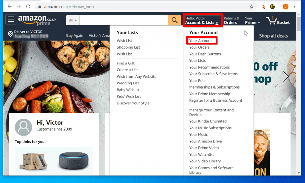 How to Change Shipping Address on Amazon by Changing Default Shipping address