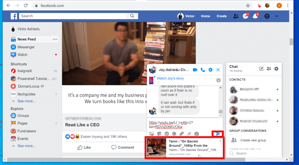 How To Embed Youtube Video On Facebook Itechguides Com