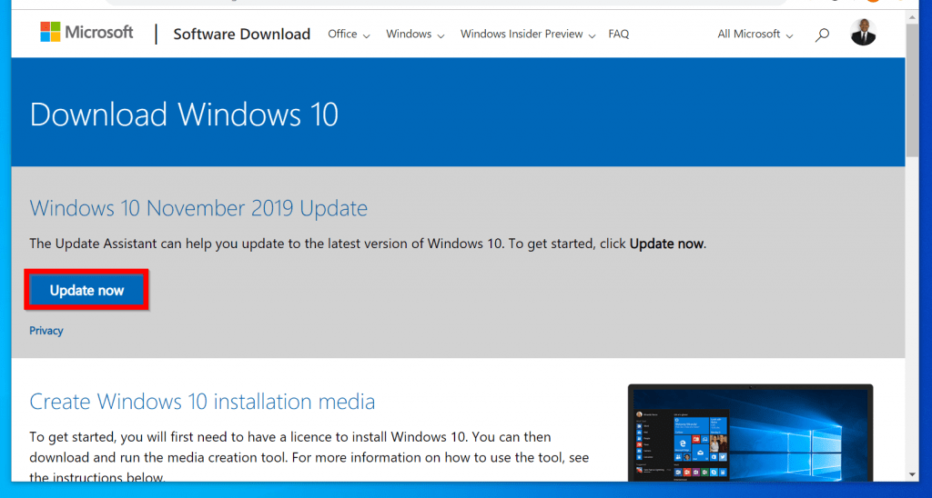 how to install windows 10 1909 update manually