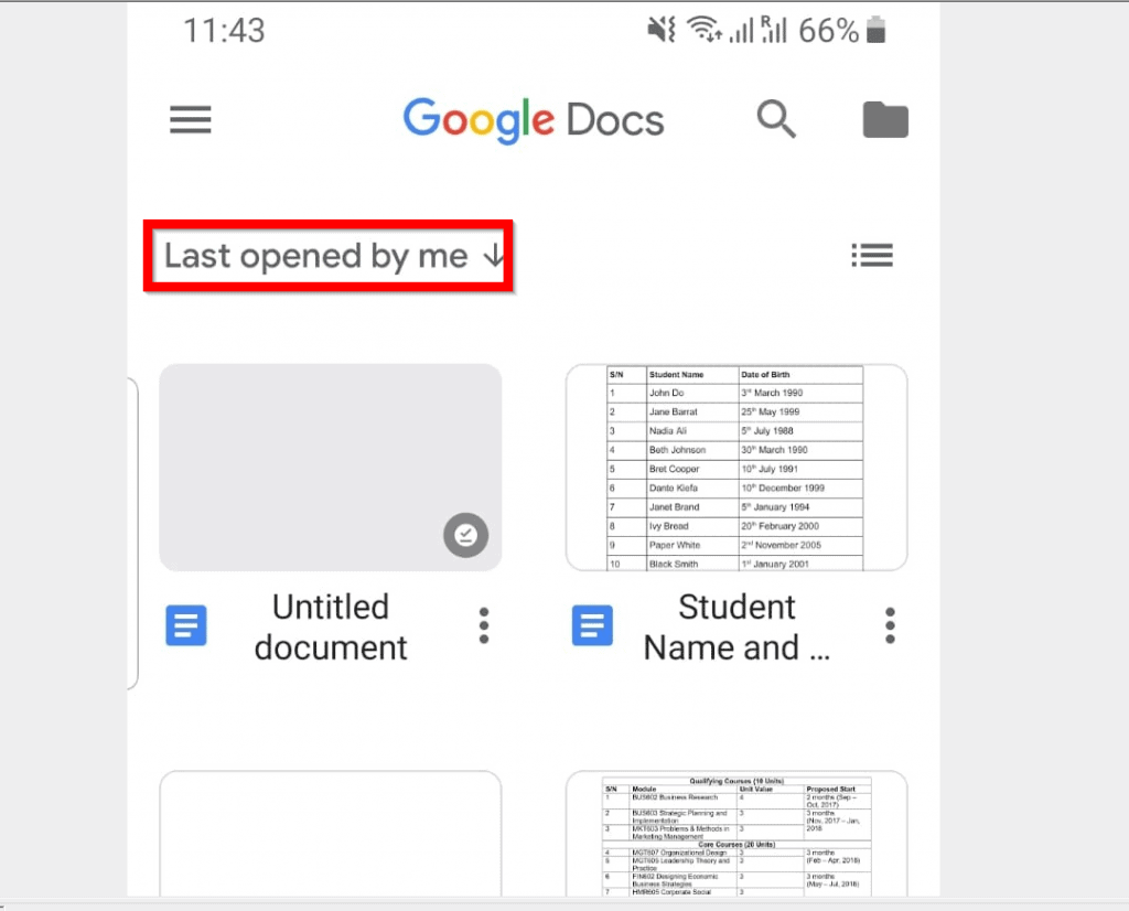 How to Change to Landscape in Google Docs (from the Android App)