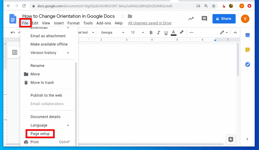 How to Change Page Color in Google Docs from a PC