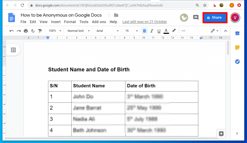How to be Anonymous on Google Docs