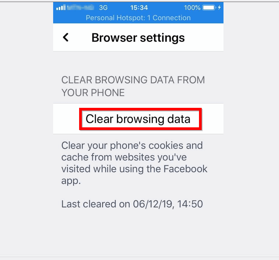 How to Clear Facebook Cache on iPhone