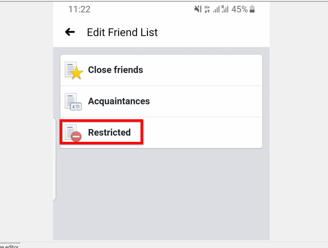 How to Restrict Someone on Facebook from the Android App