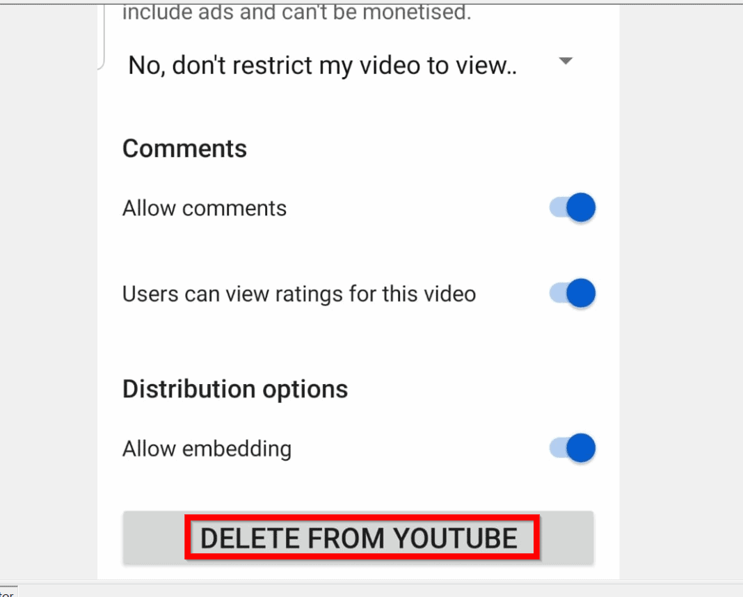 How to Delete a YouTube Video from the YouTube Studio App for Android