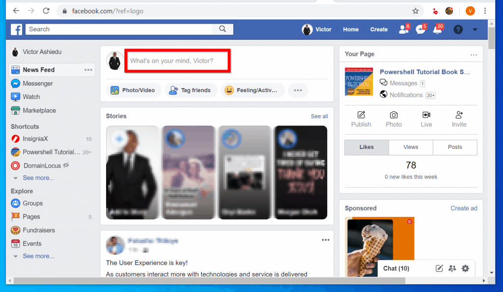 How to Bold Text on Facebook Post from a PC