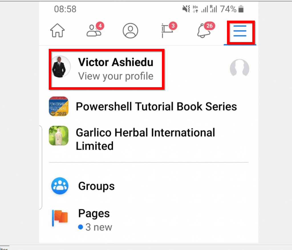 How to see Followers on Facebook App