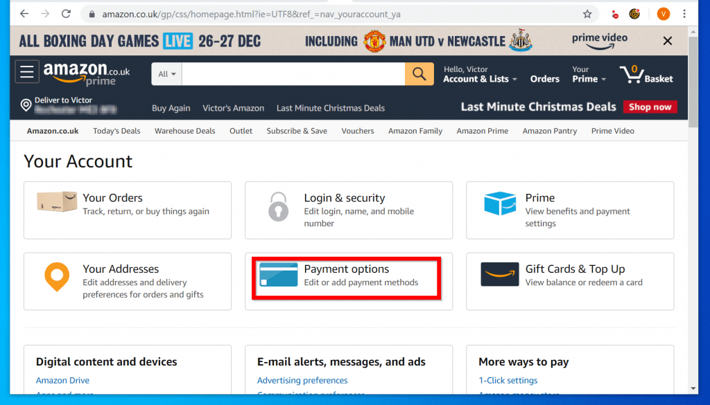 How to Remove Credit Card from Amazon on a PC (Amazon.com)s