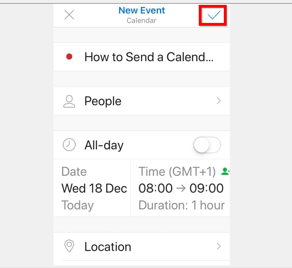 How to Send a Calendar Invite in Outlook from the iPhone App