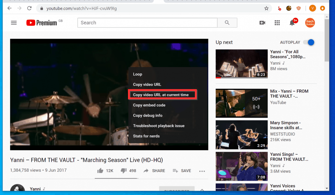 How to Timestamp YouTube by Copying Video URL