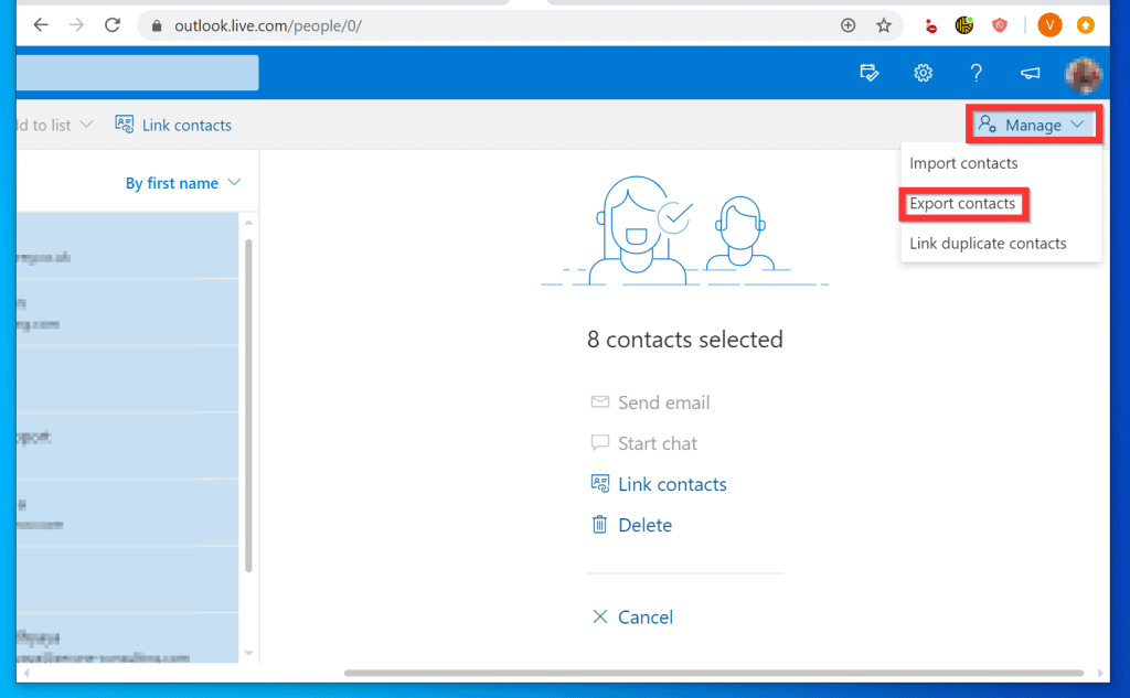 How to Export Contacts from Outlook.com